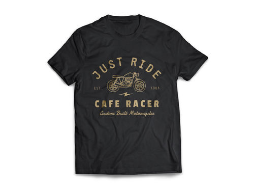 "T-Shirt ""Just Ride"" Black"