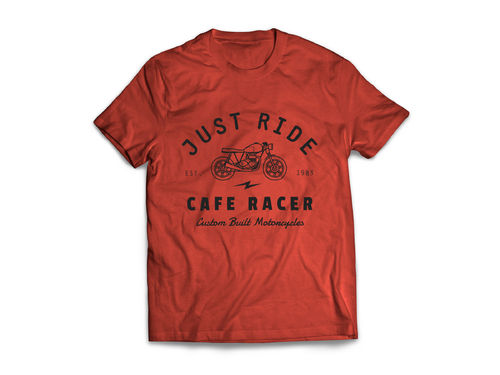 "T-Shirt ""Just Ride"" Red"